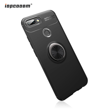 For Huawei Honor 10 Lite Case Rotating Finger Ring Holder Matte Soft Silicone Back Cover For Huawei Honor 10 Lite Coque6.2
