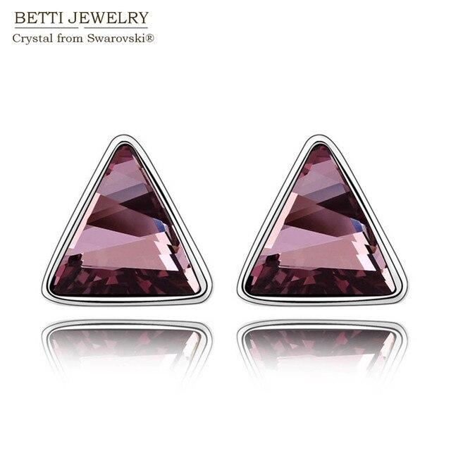 2016 новый подарок для подруги! Очаровательная треугольник серьги с кристаллами из кристаллов сваровски на день матери подарок бижутерии
