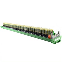32-channel relay double-group module, 24V rail installation, PLC amplifier board control