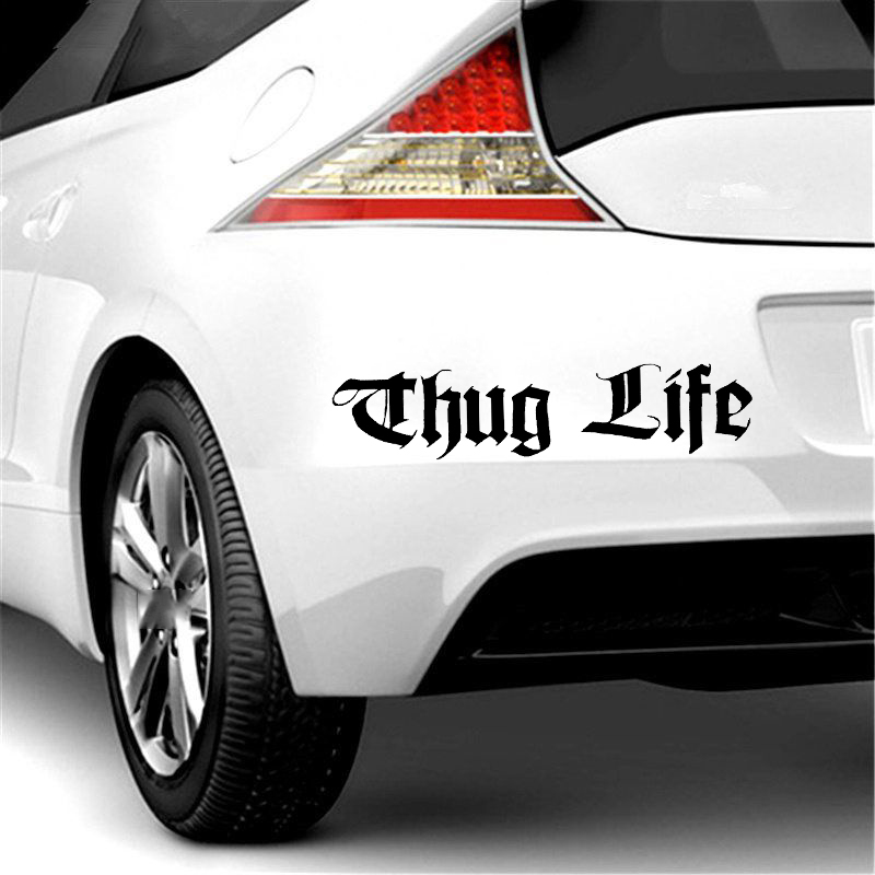 18cm 4cm For Thug Life Funny Car Window Bumper Jdm Vinyl Decal Sticker Car Accessories Motorcycle Helmet Car Styling Car Sticker in Car Stickers from Automobiles Motorcycles