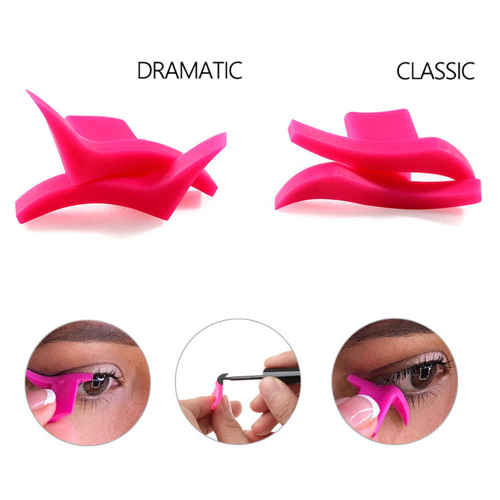 1 Pair Easy To Wear Professional Makeup Tool Models Silicone Wing Seals  Eyeliner Stamp Template Cosmetic Soft Waterproof