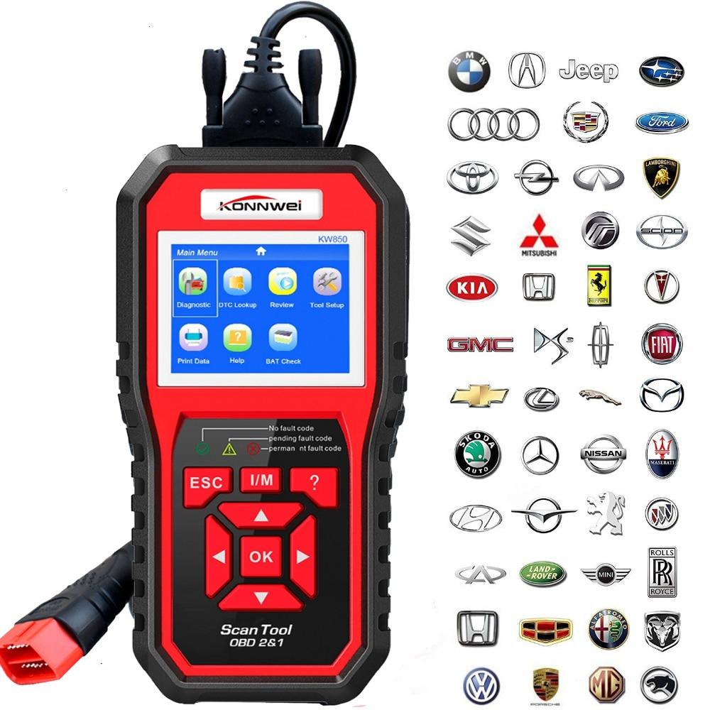 OBD2 OBD2 Scanner OBD II KW850 Anto Scanner de Diagnostic Outil Automobile Faute Lecteur de Code De Diagnostic Automobile OBD Code Scanner