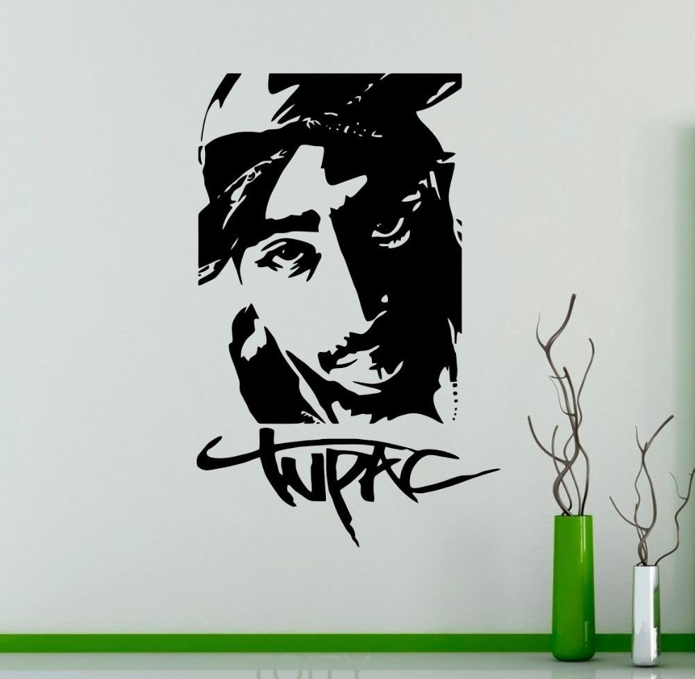 Tupac 2pac Vinyl Sticker Rap Hip Hop Music Wall Decal Dorm