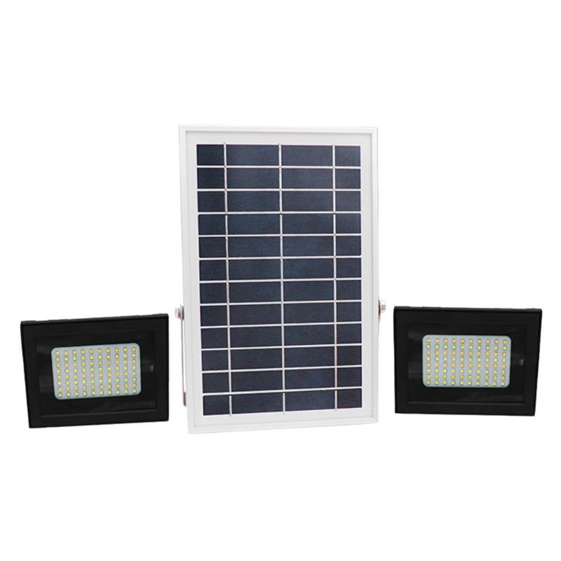 High Quality 160 LED 2 Heads RC IP65 Waterproof Solar Light Sensor Flood Light Spot Lamp