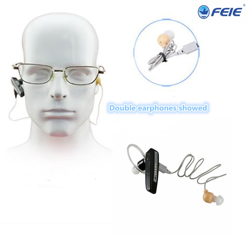 rechargable bluetooth hearing aids listening device Double earphones the apparat ear 2017 Innovative