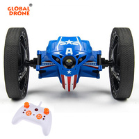 Global Drone RC Car Remote Control Robot 2 4GHz Flexible Wheels LED Light Jumping Car Bounce