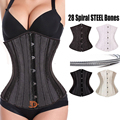 2017 New Fashion 28 spiral steel boned Corset Underbust Corsets And Bustiers tight lacing Waist Trainer Plus Size Body Shaper