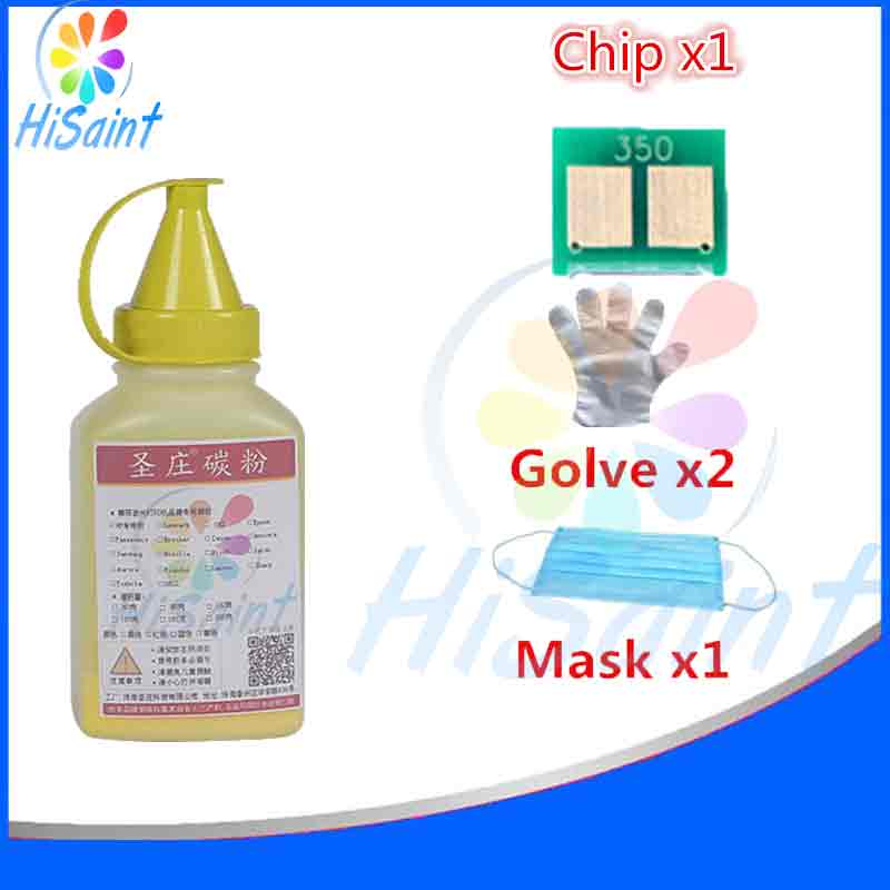 Best For HP 542 CB542 Yellow Laser Toner Powder And Chip Glove Mask LaserJet CP1215/CP1518ni Printer Panic buying