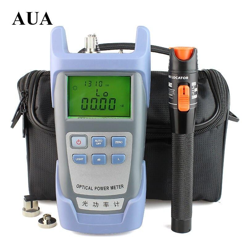 10mW Visual Fault Locator Fiber Optic Cable Tester and Optical Fiber Power Meter AUA-9 (-70dBm~+10dBm) Fiber Optic Power