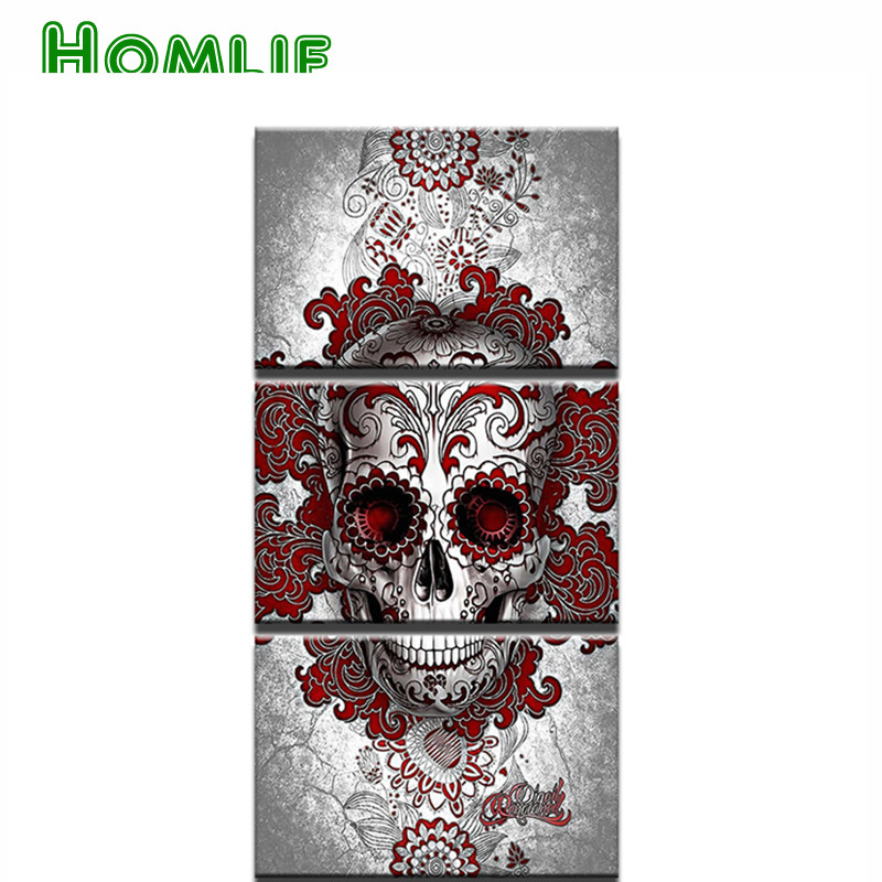 5d DIY Diamond Painting Skull Landscape Cross Stitch Children s Room Decor round square 3d Diamond