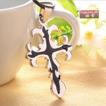 1pc fashion men necklace, personality Cross Pendant titanium pendants necklace. couple jewelry wholesale