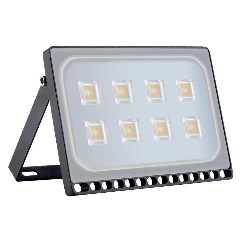 4PCS Ultrathin LED Flood Light 10W 20W 30W 50W 100W IP65 220V LED Spotlight Refletor Outdoor Lighting  Wall Lamp Floodlight