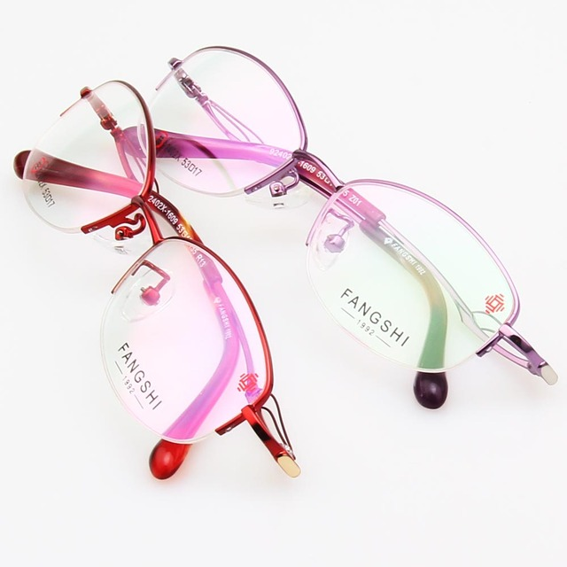994e5383b1 2 Color Fashion Eyeglasses Frame 2018 Prescription Glasses Frames Women  Spectacles Half Rimless oculos feminino 92402