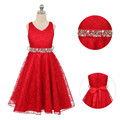 2017 New party wear clothing summer dress for Girls children princess wedding dress girls teenage age 7 9 10 12 party prom dress