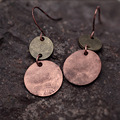 Jane and VINTAGE EARRINGS alloy round Earrings accessories do old environmental protection