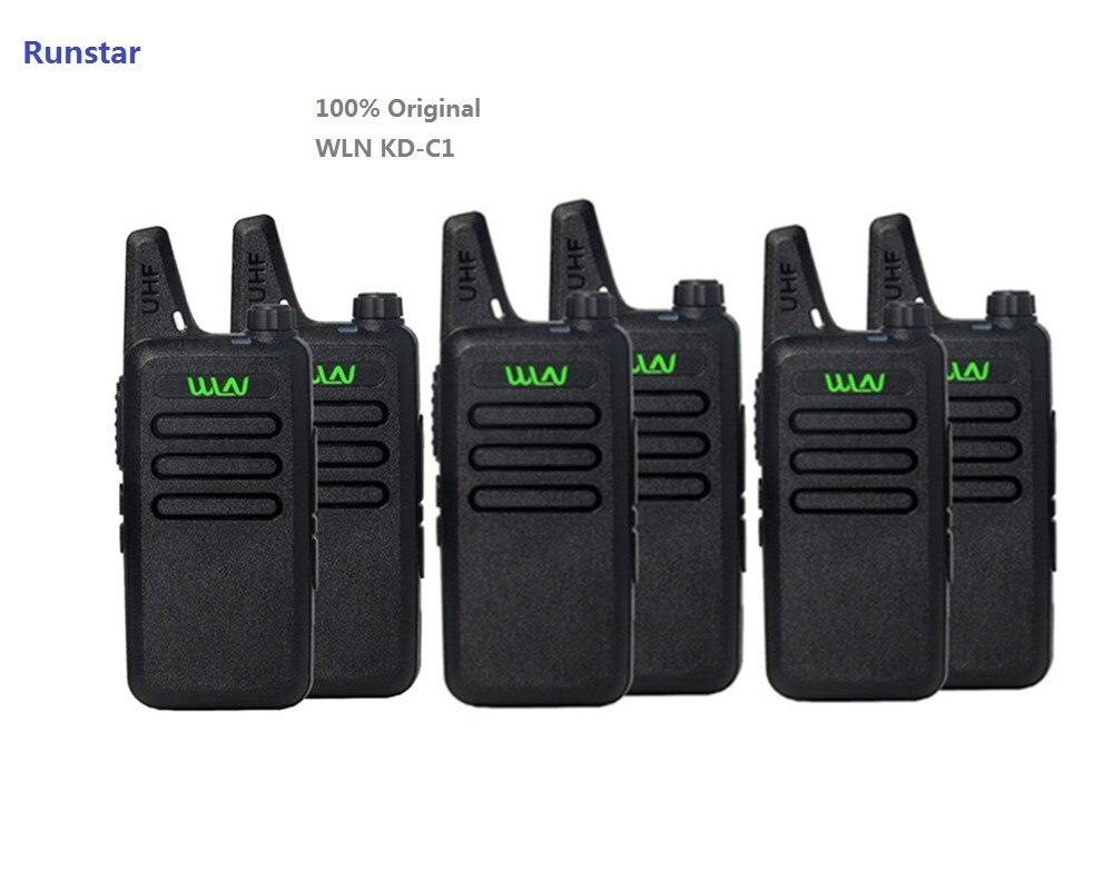 6pcs new WLN KD C1 Mini Wiress Walkie Talkie UHF Handheld Two Way Radio station Communicator Transceiver ham radio-in Walkie Talkie from Cellphones & Telecommunications    1