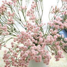 ประดิษฐ์ Babys Breath ดอกไม้สัมผัสจริง Gypsophila สำหรับงานแต่งงานหน้าแรกตกแต่งสวนดอกไม้ปลอม