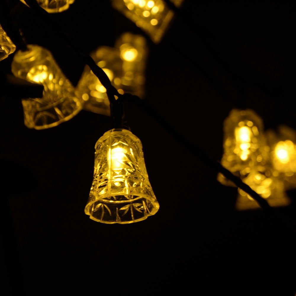 Solar Led String Light Christmas Outdoor Decorations Fairy Lights 4.8 M 20 led Bell garland light for Outdoor, Gardens, Homes fashion deer bell head band christmas decorations