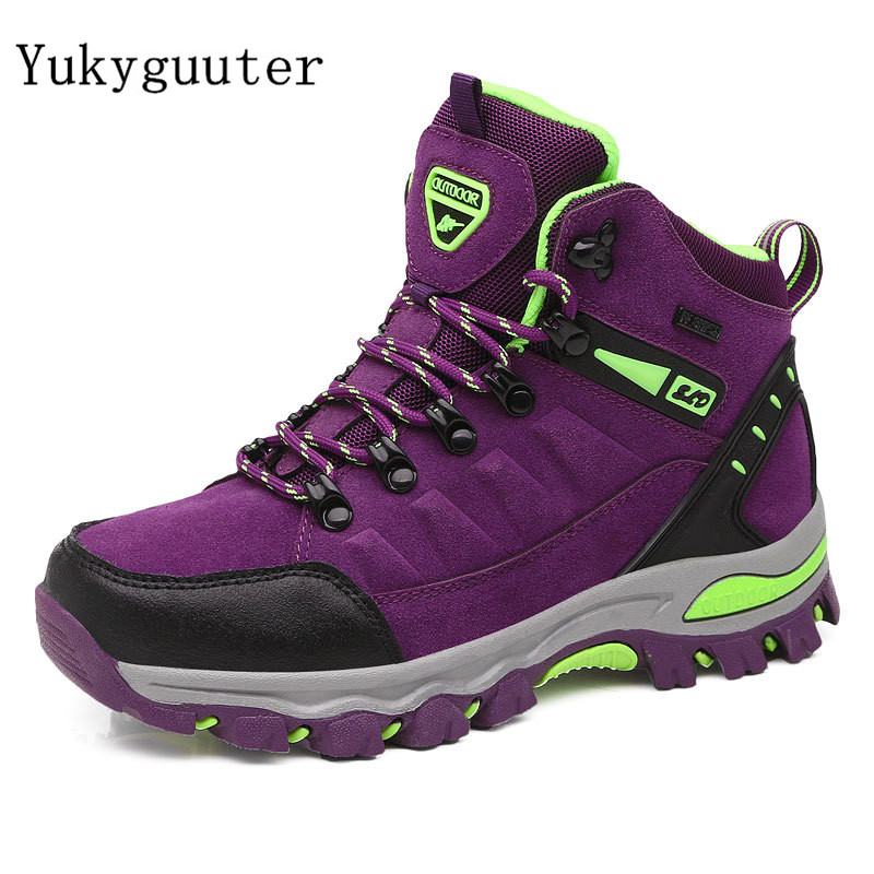 Women Hiking Shoes Outdoor trekking Sports Climbing Camping Boots Non-slip Waterproof Walking Jogging Trainers Sneakers Lace Up