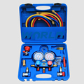 R134a AC Diagnostic Manifold Gauge Tester HVAC  High and Low Pressure Gauge Refrigerant Manifold Gauge Digital Dual Table Valve