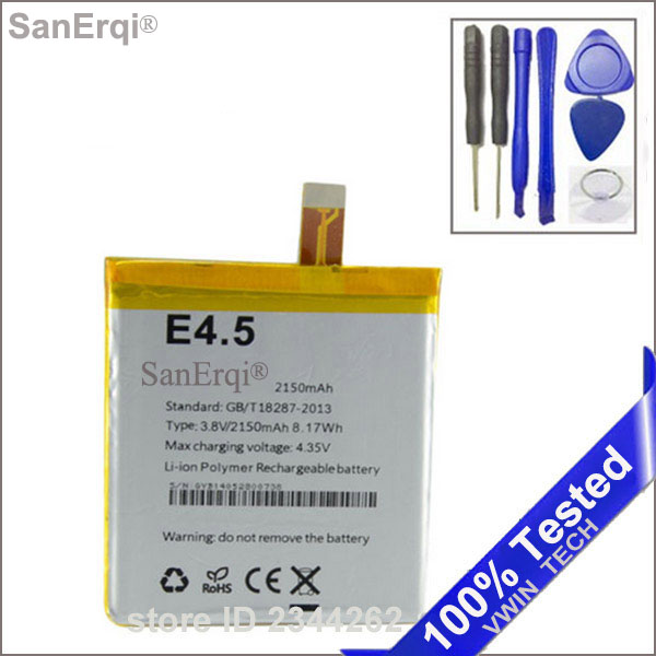 100% SanErqi Smartphone 2150 mAh Batterie Pour BQ Aquaris E4.5 batterie livraison gratuite outils gratuits