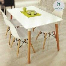Луи мода обеденный стул скандинавский большой размер квартира минималистский современный стол для отдыха белые деревянные стулья с комбинацией