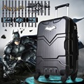 24 inch 43cmx65cmx27cm abs and pc batman pattern black trolley 4 wheels luggage or suitcase for unisex