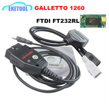 EOBD Galletto 1260 ECU Flasher Diagnostic Tool OBD OBDII Read&Write ECU For Multi-Cars Galletto1260 Multi-Language Hot Sale