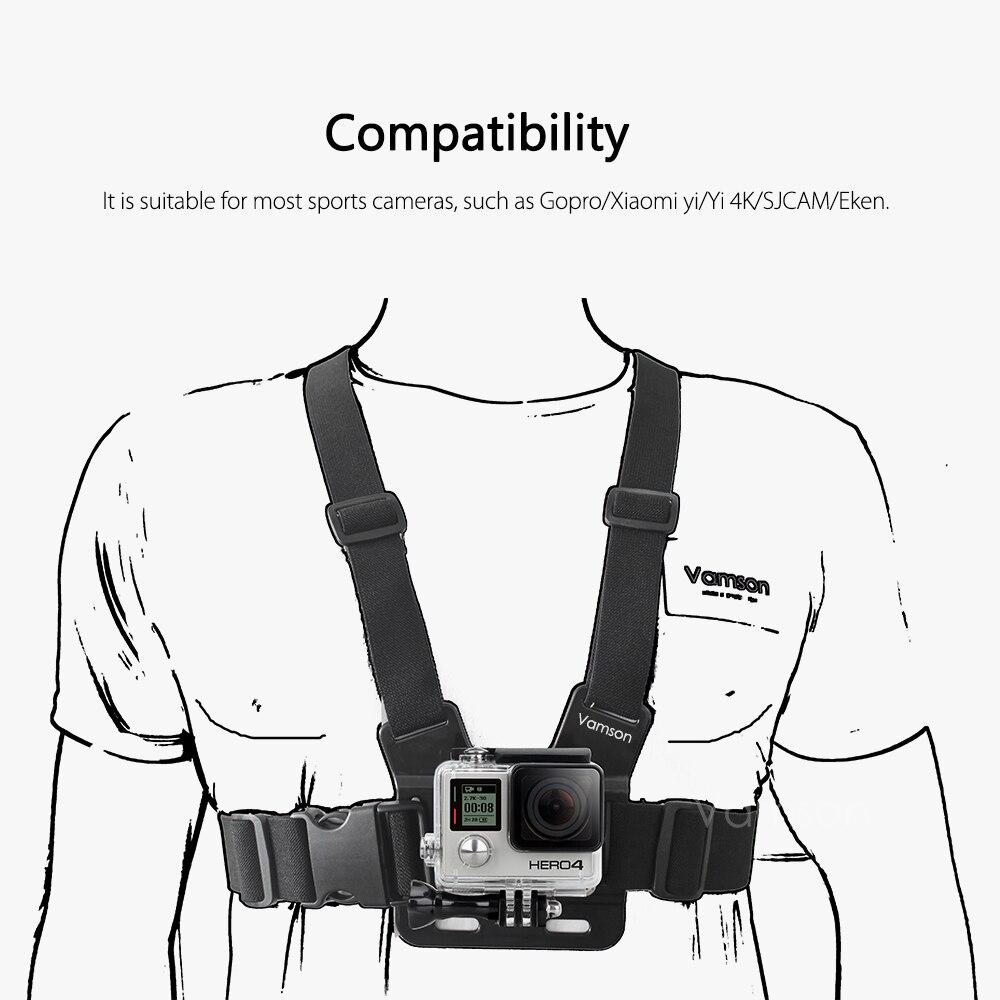 vamson for xiaomi for yi 4 k accessories head strap chest strap Yi Home Camera Wireless App vp2033 vp2031 vp2032 vp2034 vp20345 vp203
