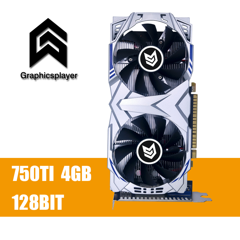 Графика карты GTX 750TI 4096 MB/4 GB 128bit GDDR5 пласа-де-video carte graphique видео карты для NVIDIA Geforce PC VGA