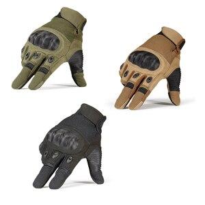 Image 5 - Écran tactile Gants Tactiques Militaires de Larmée Paintball Tir Airsoft Combat Anti Dérapage Dur Knuckle Complet Doigt Gants Hommes Femmes
