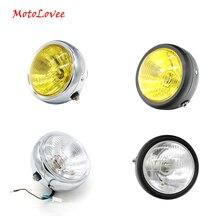 MotoLovee Vintage Motorcycle Headlight Cafe Racer Head Light Decorative Lights Modified Motorbike Headlamp