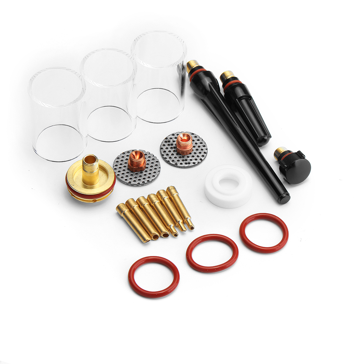 New 19Pcs TIG Welding Torch Kit Gas Lens Pyrex Glass Cup for WP-17/18/26 Series Welding Accessories tig 26 wp 26 wp26 wp 26 tig 26 tig welding torch dinse connection quick connector gas electric seperated 4m