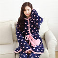 Sexy Male Pajamas Male Pajamas And Winter New Explosion Models Of Coral Clip Cotton Lady Long Paragraph With A Hat Warm Suit