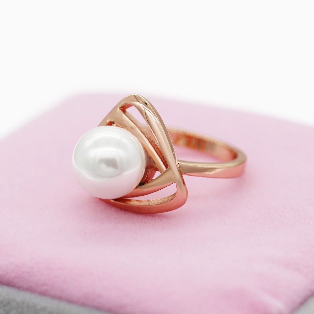 Rings for Women Fantasy Ring Female Simulated Pearl Jewelry Rose ...
