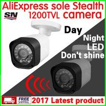 Патент стелс видикона! CMOS 1200TVL видеонаблюдения HD Камера уличная Водонепроницаемая IP66 ИК не просвечивают ночного видения видео мониторинга продукта