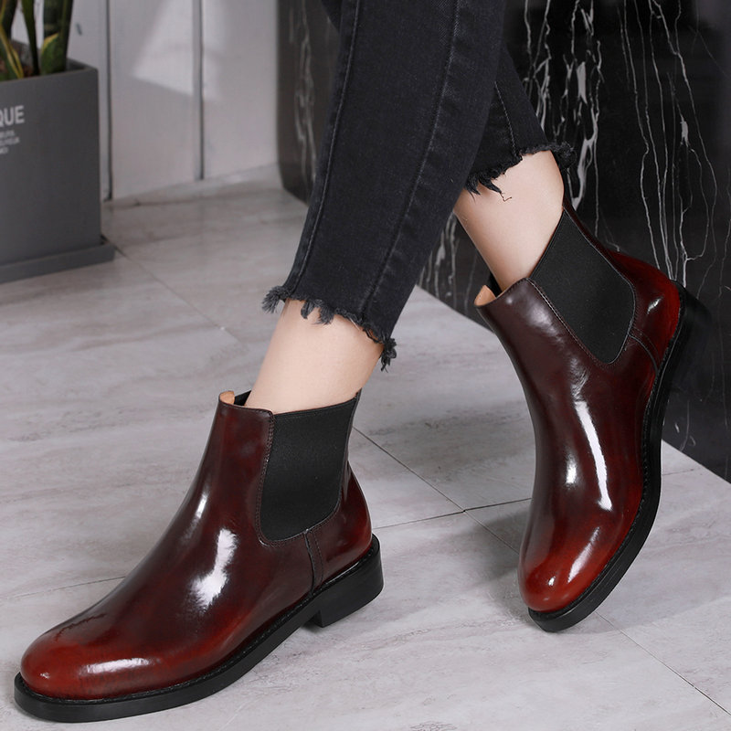 F.N.JACK Winter Boots Women Sewing Designed Ankle Boots Martin Woman Cow Leather Genuine Leather BootsF.N.JACK Winter Boots Women Sewing Designed Ankle Boots Martin Woman Cow Leather Genuine Leather Boots