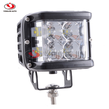 4 Inch 60W LED Work Light Full Reflector Spot Flood Combo Side Luminate For 4WD Pickup Wagon Motorcycle  ATV SUV For Truck