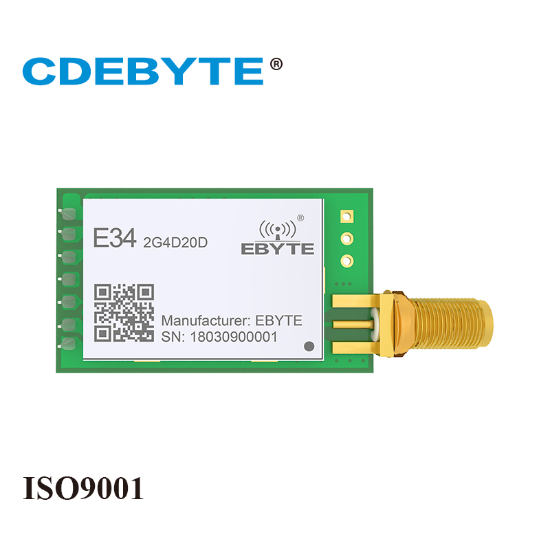 E34-2G4D20D High Speed Full Duplex NRF24L01P 2.4Ghz 100mW SMA Antenna IoT Uhf Wireless Transceiver Transmitter Receiver Module