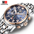 Automatic watch mens mechanical brand luxury CARNIVAL orologi tourbillon clock men sports watch swiss military automatik watch
