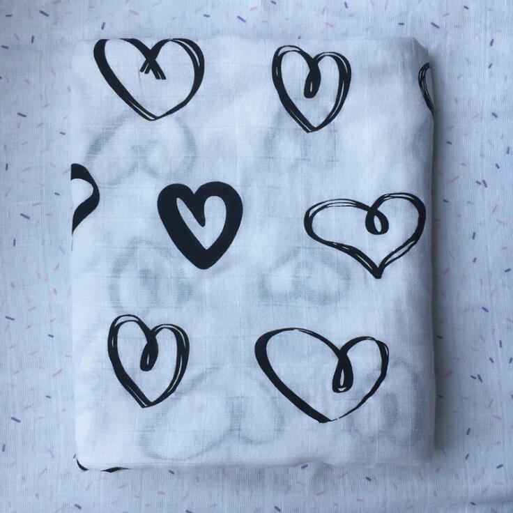 Muslin Bamboo Woven Gauze Baby Blanket Swaddle Bags Double Layer