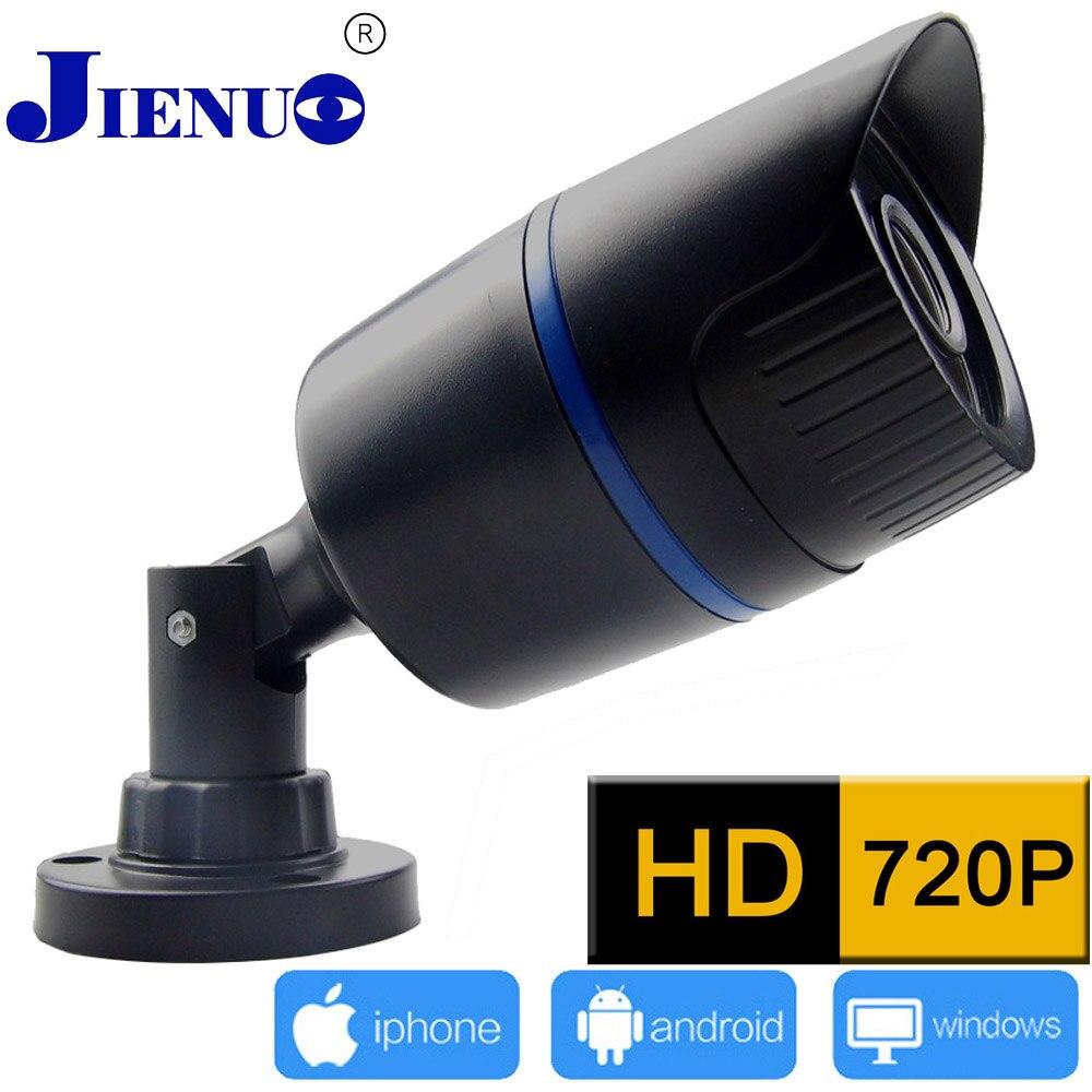 imágenes para Jienu 720 p hd mini ip cámara impermeable 24led ir cut cámara de visión nocturna p2p onvif h.264 opinión de teléfono inteligente