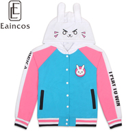 D VA Cotton Hoodies Baseball Coats Dva Spring Autumn Thin Sweatshirts Coaplay Jackets For Women