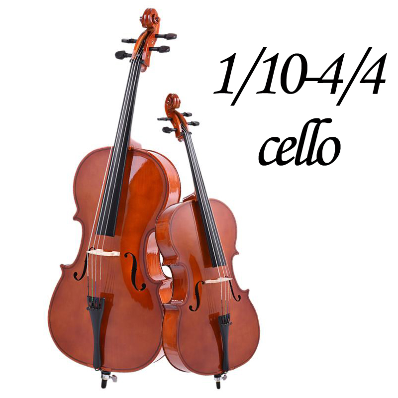 1/10 1/8 1/4 1/2 3/4 4/4 Cello,High Quality Maple Wood Makes,Solid Wood,cello+bow+bag+rosin,A Matte Or Bright Cello