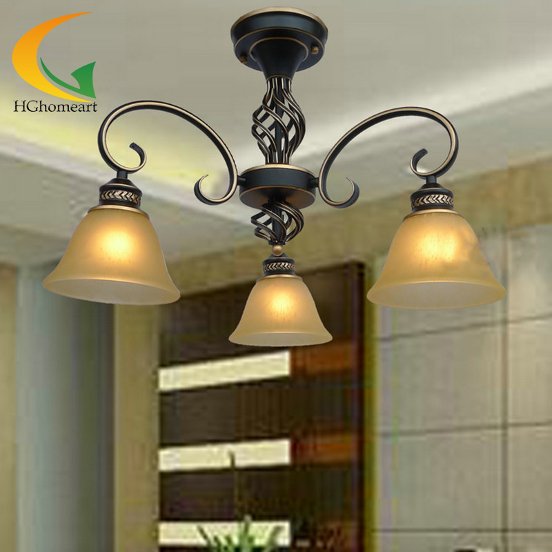 European-style living room chandelier bedroom lamp creative restaurant light penthouse floor wrought iron chandelier 55 175 jtc 1731