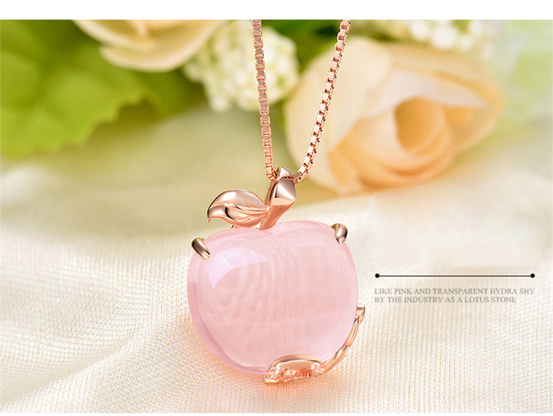 Rose-Gold-color-Pink-Opal-Pendant-Necklace-for-Women