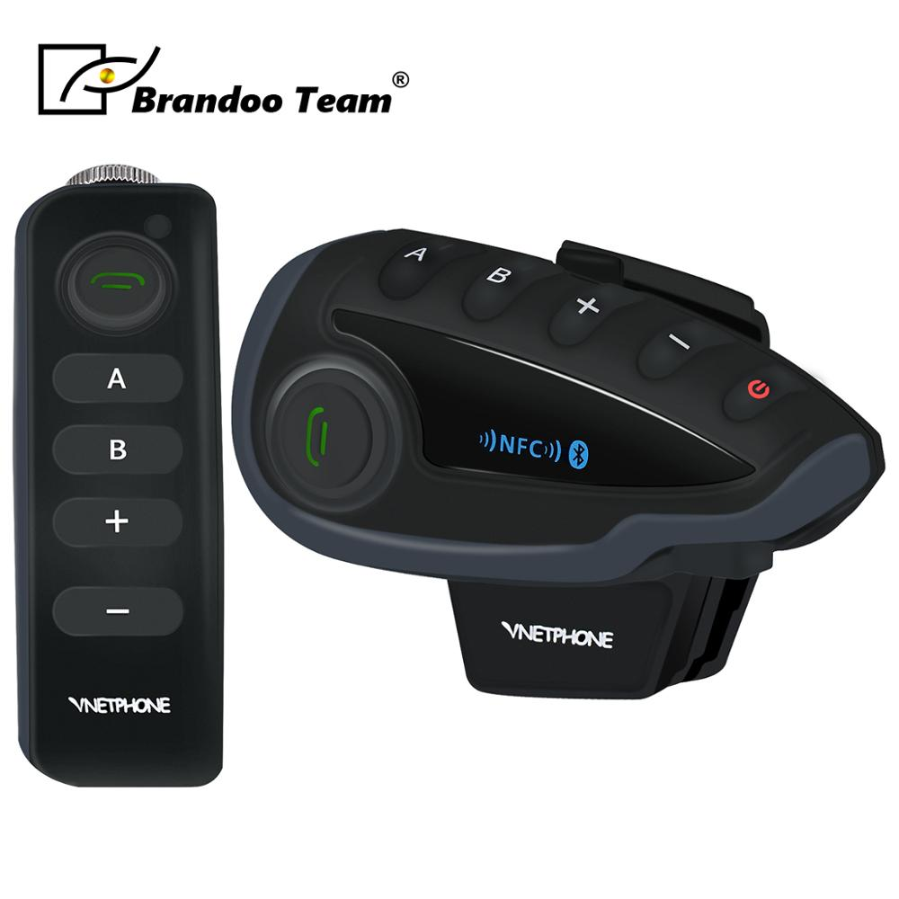 1pcs 1000M Bluetooth Intercom Motorcycle Helmet Interphone Headset Waterproof Wireless Bluetooth Moto Headset Interphone