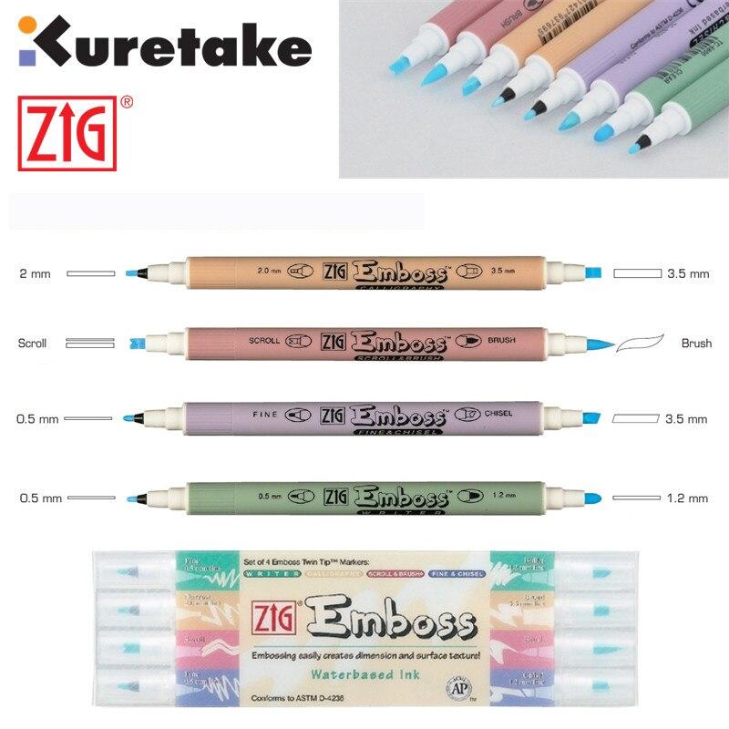 Zig Kuretake Emboss Twin Tip Markers Writer Calligraphy