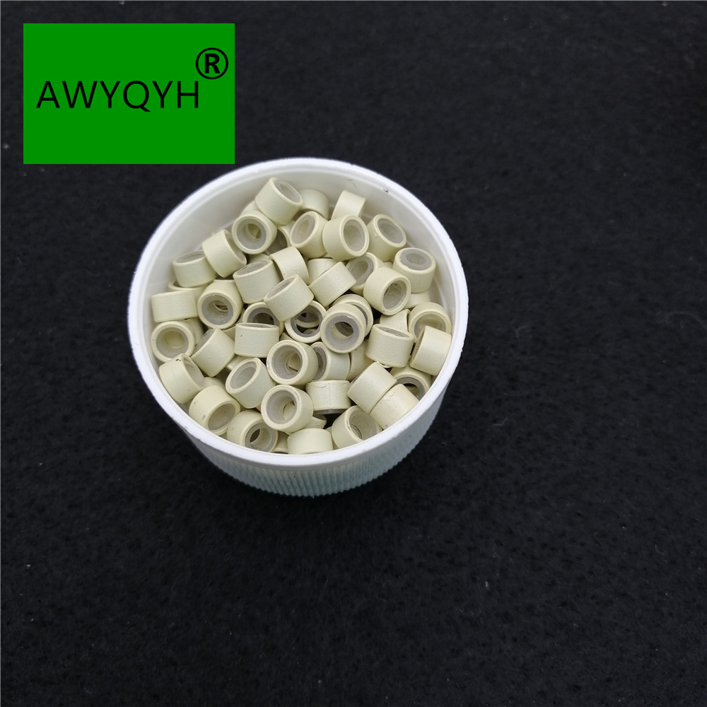 1000 шт./упак. силиконовая подкладка микро ссылки кольца Бусины заколки для волос перо расширения