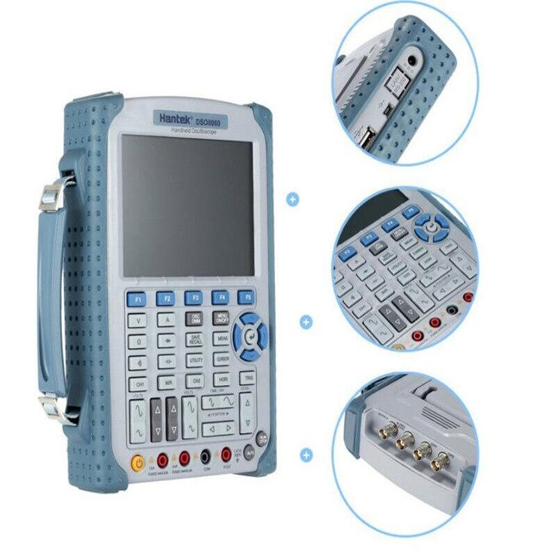Osciloscopio Handheld Portable Digital Multimeter Oscilloscope USB LCD 60MHz 2 Channels DMM Spectrum Analyzer